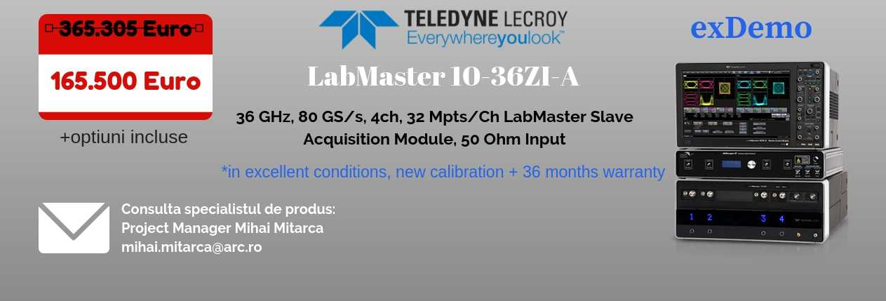 LabMaster 10-36ZI-A Teledyne Q4 update