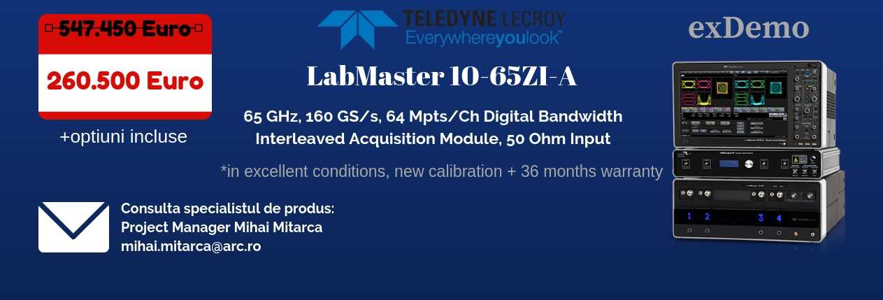 LabMaster 10-65ZI-A Teledyne Q4 update