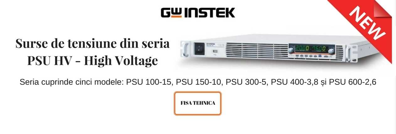 GW Instek seria PSU HV - High Voltage banner