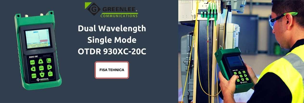 Dual Wavelength Single Mode OTDR 930XC-20C BANNER