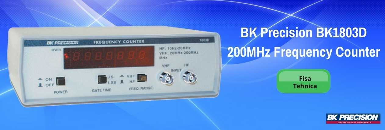 BK Precision BK1803D 200MHz Frequency Counter