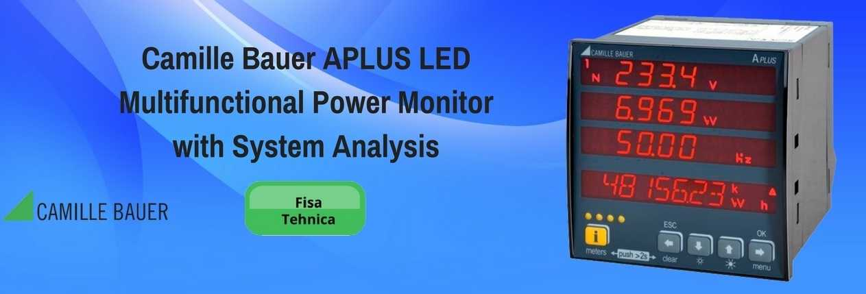 Camille Bauer APLUS LED Multifunctional Power Monitor with System Analysis