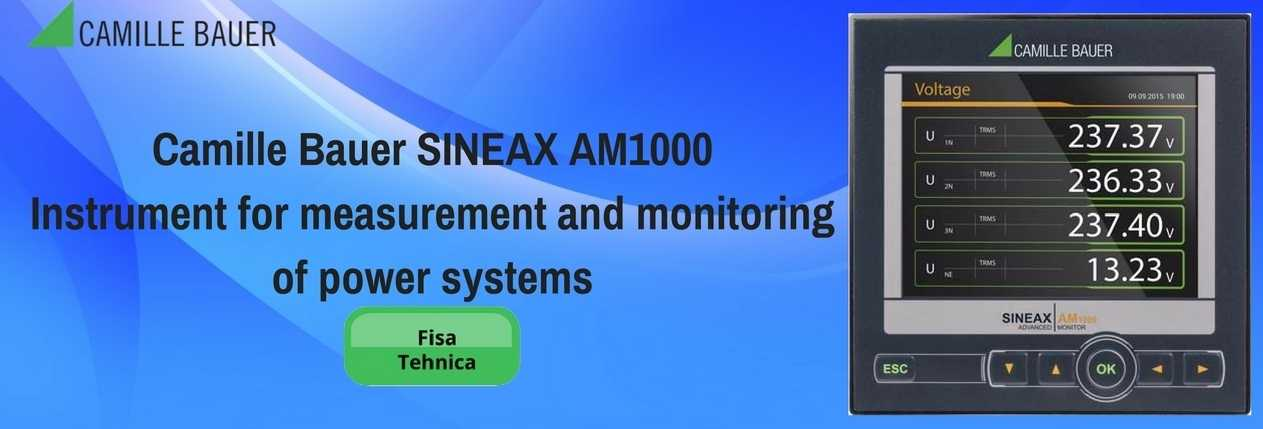 Camille Bauer SINEAX AM1000 Instrument for measurement and monitoring of power systems