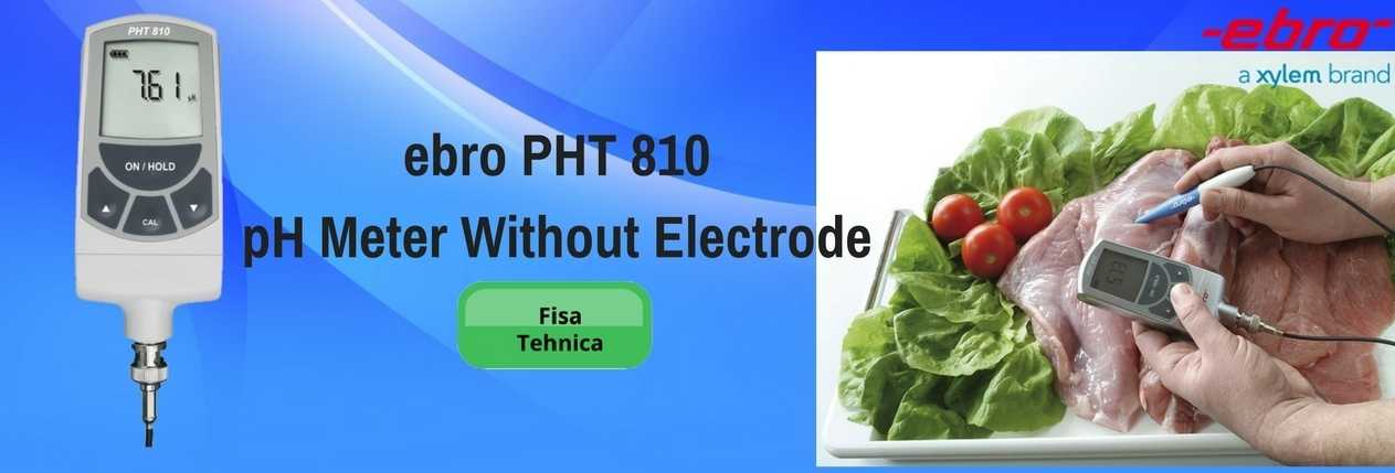 ebro PHT 810 pH Meter Without Electrode