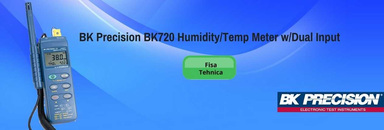 BK Precision BK720 Humidity Temp Meter Dual Input
