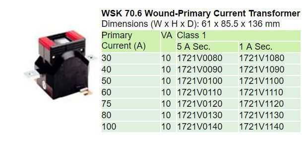 WSK 70.6 Technical Data
