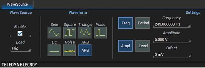 Teledyne LeCroy WaveSurfer 3000 Waveform Generation