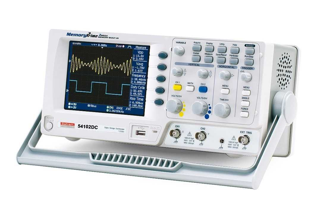 Osciloscoape Sefram 54102DC Digital oscilloscope, 2 channels, 100MHz, 2Mpoint memory, 1Gs/s, compact