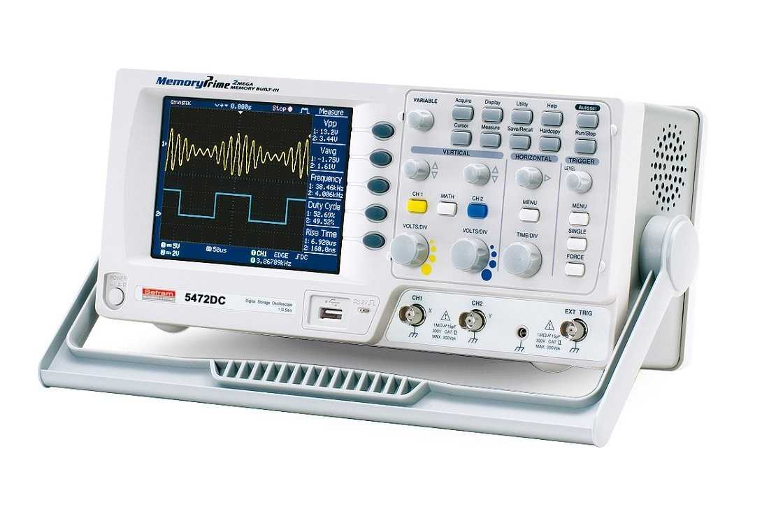Osciloscoape Sefram 5472DC Digital oscilloscope, 2 channels, 70MHz, 2Mpoint memory, 1Gs/s, compact