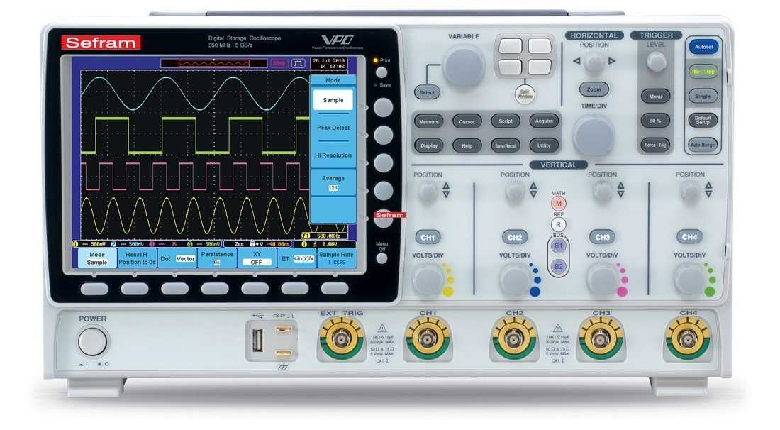 Osciloscoape Sefram 6154 Digital oscilloscope, 4 channels, 150MHz, 5Gs/s