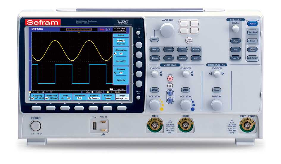 Osciloscoape Sefram 6252 Digital oscilloscope, 2 channels, 250MHz, 2.5Gs/s