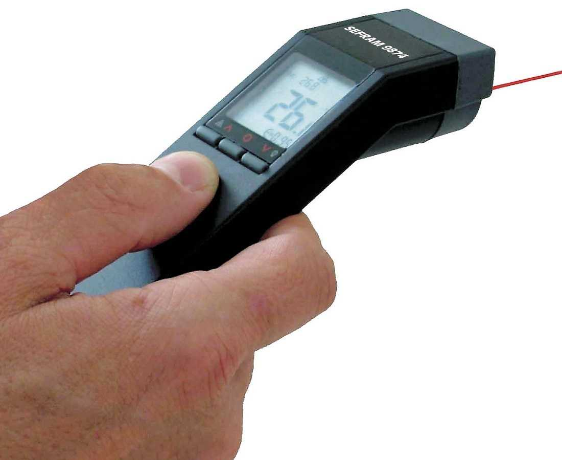 Termometre IR Sefram 9874 Infrared thermometer (-32 to 520grC) Supplied with carrying pouch (SC516)