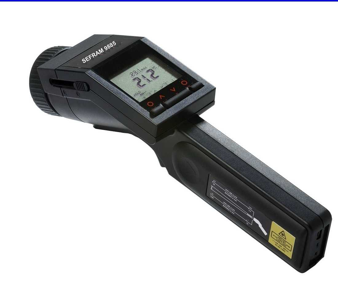 Termometre IR Sefram  9885 Infrared thermometer (-35 to 900grC) with close focus