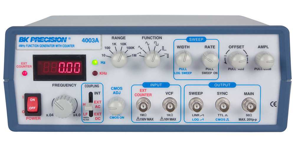 Generatoare de functii BK Precision 4003A 4MHz Sweep Function Generator with 5 digit Red LED