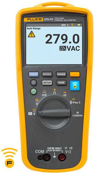 Multimetre Digitale Fluke 279FC Multimetru digital TRMS/iFlex cu functii complete si camera de termoviziune integrata