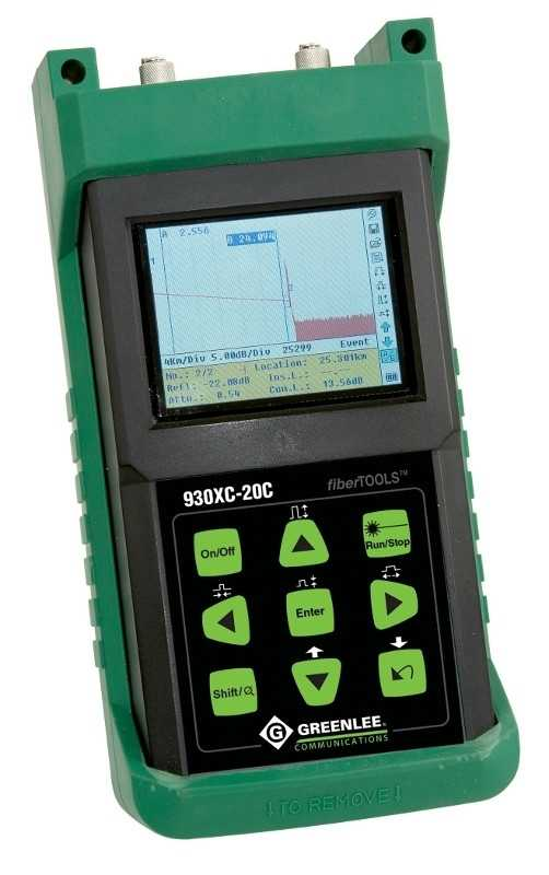 Testere retele fibra optica Greenlee Dual Wavelength Single Mode OTDR, 930XC-20C-APC-FC