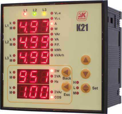 Aparate de panou Camille Bauer K21 Multifunctional Indicator for Mains Quantities