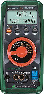 Micro-ohmetre Metrawatt MetraHit 27I Milliohmeter, Insulation Tester, Multimeter with Data Logger