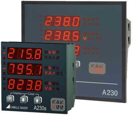 Aparate de panou Camille Bauer SINEAX A230s Multifunctional Power Monitor with System Analysis