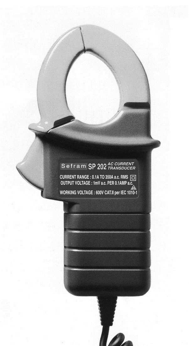 Traductoare de curent Sefram SP202  Current transducer (1mVAC/1AAC, 350 A, diam 30 mm)