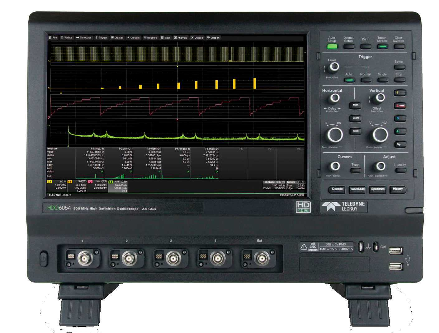 "Osciloscoape Teledyne LeCroy HDO6104A-MS - 1 GHz, 2.5 GS/s, 4+16 Ch, 50 Mpts/Ch 12-bit HD Mixed Signal Oscilloscope with 12.1"" WXGA Touch Display"